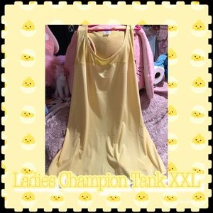 💛Ladies XXL Champion Tank Yellow💛